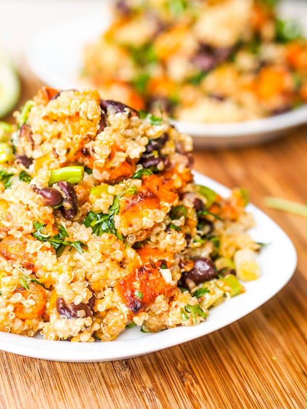 Vegan Sweet Potato Black Bean Quinoa Salad Recipe {Gluten-Free}