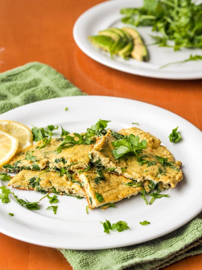 Arugula and Pesto Dairy Free Omelette {Gluten-Free}
