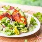 Southwestern Salmon Salad with Avocado Cilantro Dressing