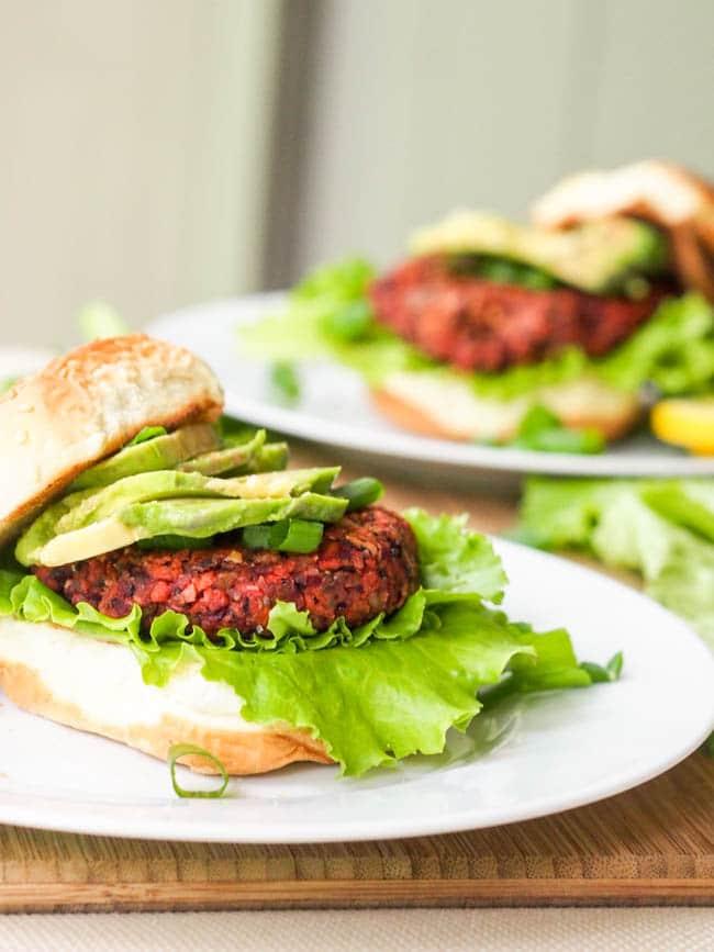 Superfood Vegan Veggie Chia Seed Burger {Gluten-Free}