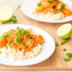 Thai Massaman Dairy Free Chicken Curry {Gluten-Free}