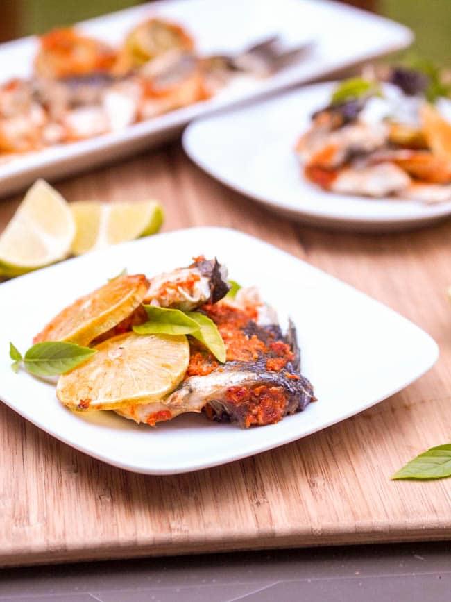 Thai Spiced Roasted Branzini