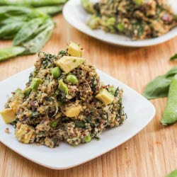 Vegan Green Quinoa Salad {Gluten-Free}