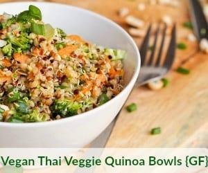 Vegan Veggie Quinoa Bowls Recipe
