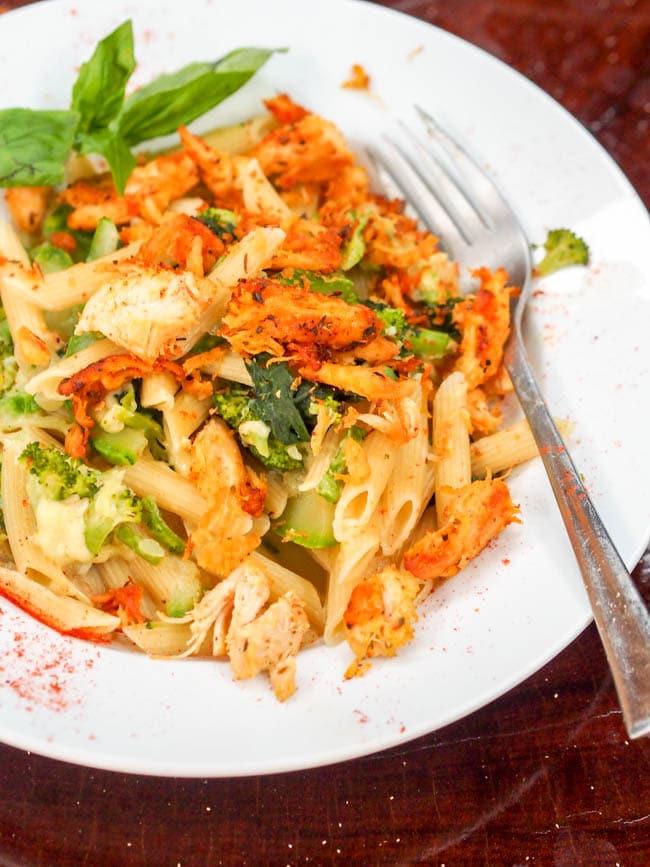 Creamy Chicken and Green Veggie Pasta