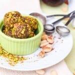 Honey Avocado Truffles with Pistachios