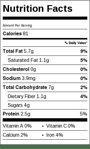 Honey Chocolate Cashew Truffles Nutrition Label