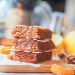 Vegan Apricot Walnut Energy Bars {GF}