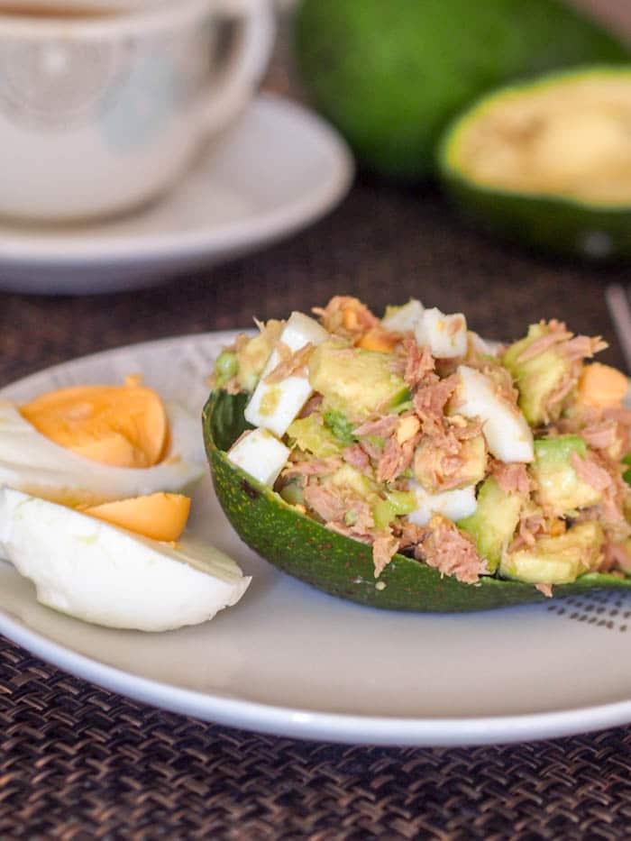 Healthy Tuna Avocado Egg Salad {Gluten-Free, Dairy-Free}