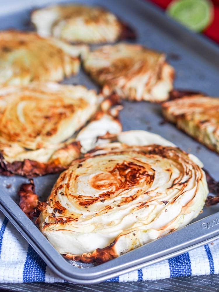 Vegan Cabbage recipe with tahini sauce