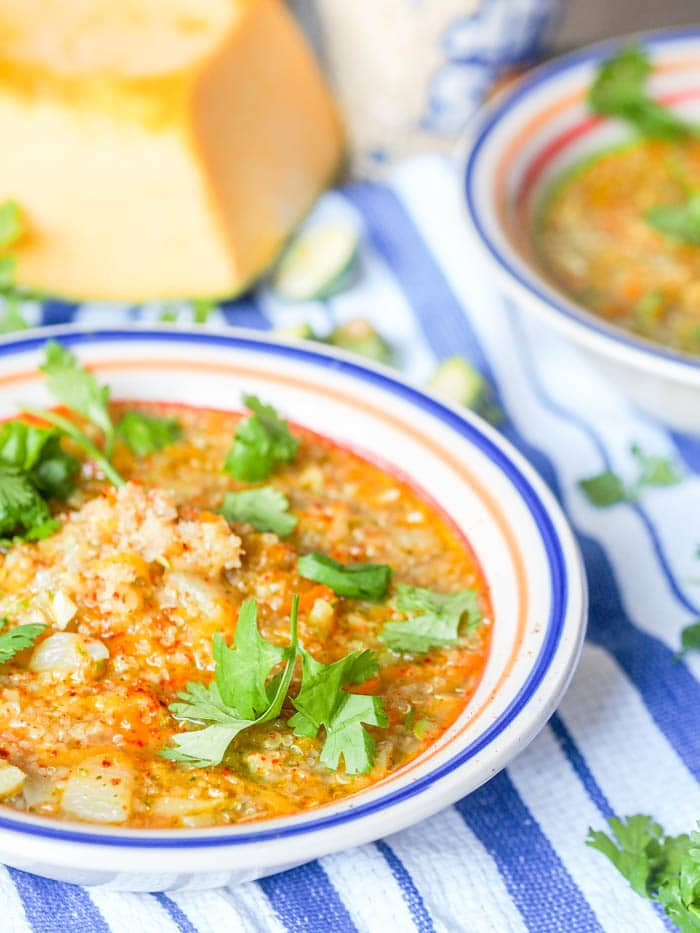 ... squash quinoa soup is the ultimate comforting feel good soup