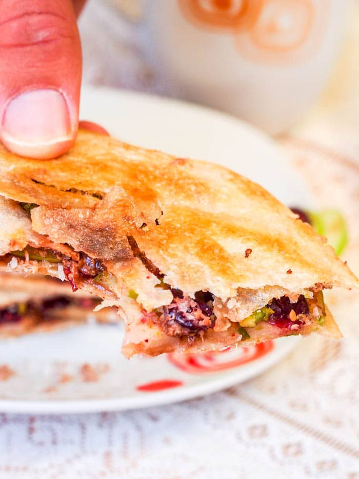 For a last minute, easy to make 15 minute dessert make cranberry, pistachio and coconut dessert quesadillas. Both gluten-free and vegan. Perfect on Cinco de Mayo or any other day you have a sweet tooth! My NEW favorite easy to make dessert   avocadopesto.com