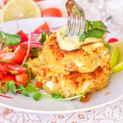Vegan Crab Cakes with Avocado Recipe {Gluten-Free}