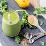 Kale Smoothie with Maca, Pear and Banana