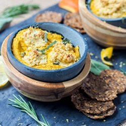 Savory Pumpkin Dip with Rosemary Cashew Ricotta {GF, Paleo, Vegan} + a Giveaway
