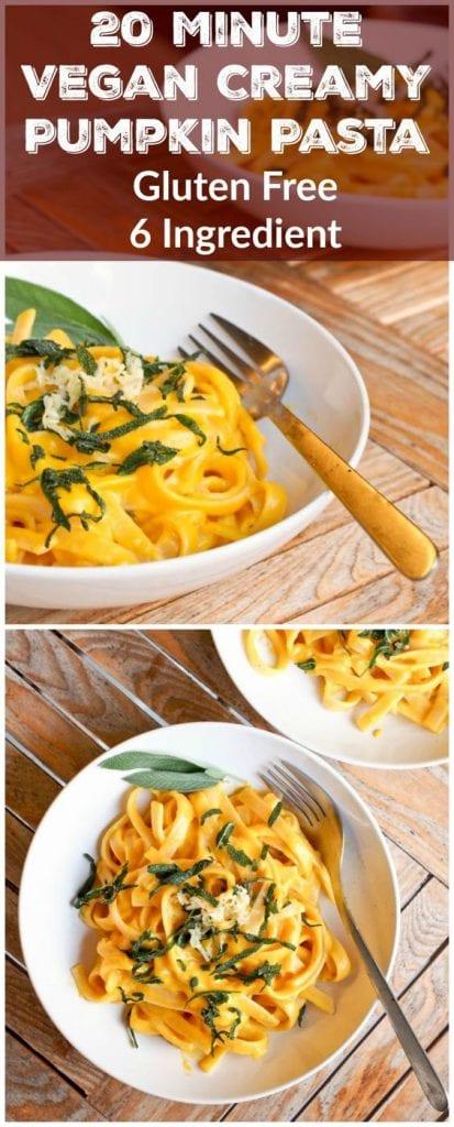 Vegan Creamy Pumpkin Pasta with Sage