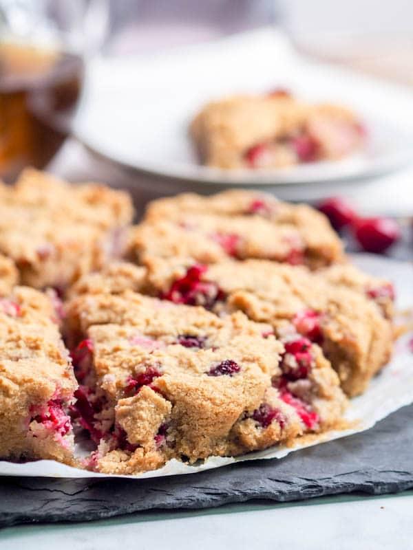 Vegan + Gluten Free Almond Cake with Cranberries