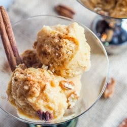 Pumpkin Frozen Yogurt {GF, Vegan, Refined Sugar-Free}