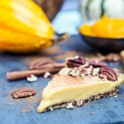 Vegan Pumpkin Pie {GF, Refined Sugar Free}