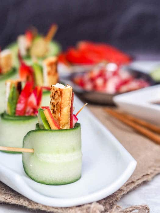 Vegan Asian Cucumber Rolls