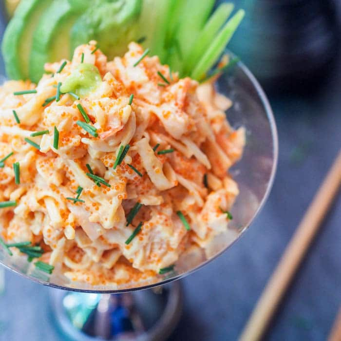 Seafood Salad With Asian Flavors With Crab And Shrimp
