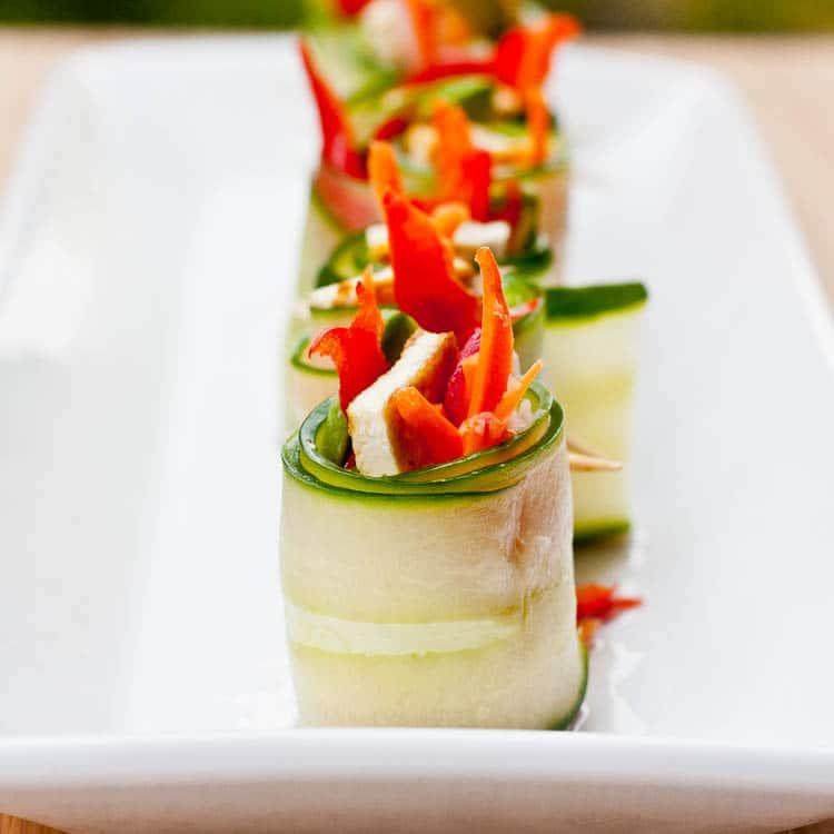 Asian Vegan Cucumber Rolls Recipe {Gluten-Free}
