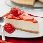 NY Cheesecake with strawberries