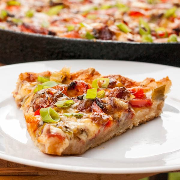 Thin Crust Pizza with Sour Cream Recipe