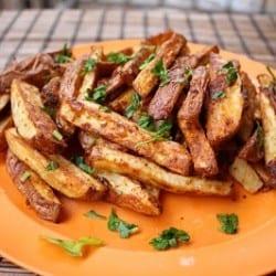 Oven Baked Fries {Gluten-Free, Vegan}