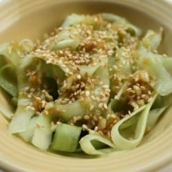 Cucumber Noodle Salad with Lemongrass Dressing