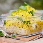 Lemon Rice makes for the perfect healthy side dish. With a flair of Indian flavors this lemon rice is made with turmeric, ginger, chili, lemon and Indian spices. Gluten Free and Vegan | avocadopesto.com