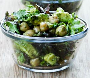 Avocado Chickpea Salad with Vegan Pesto {Gluten-Free, Vegan}
