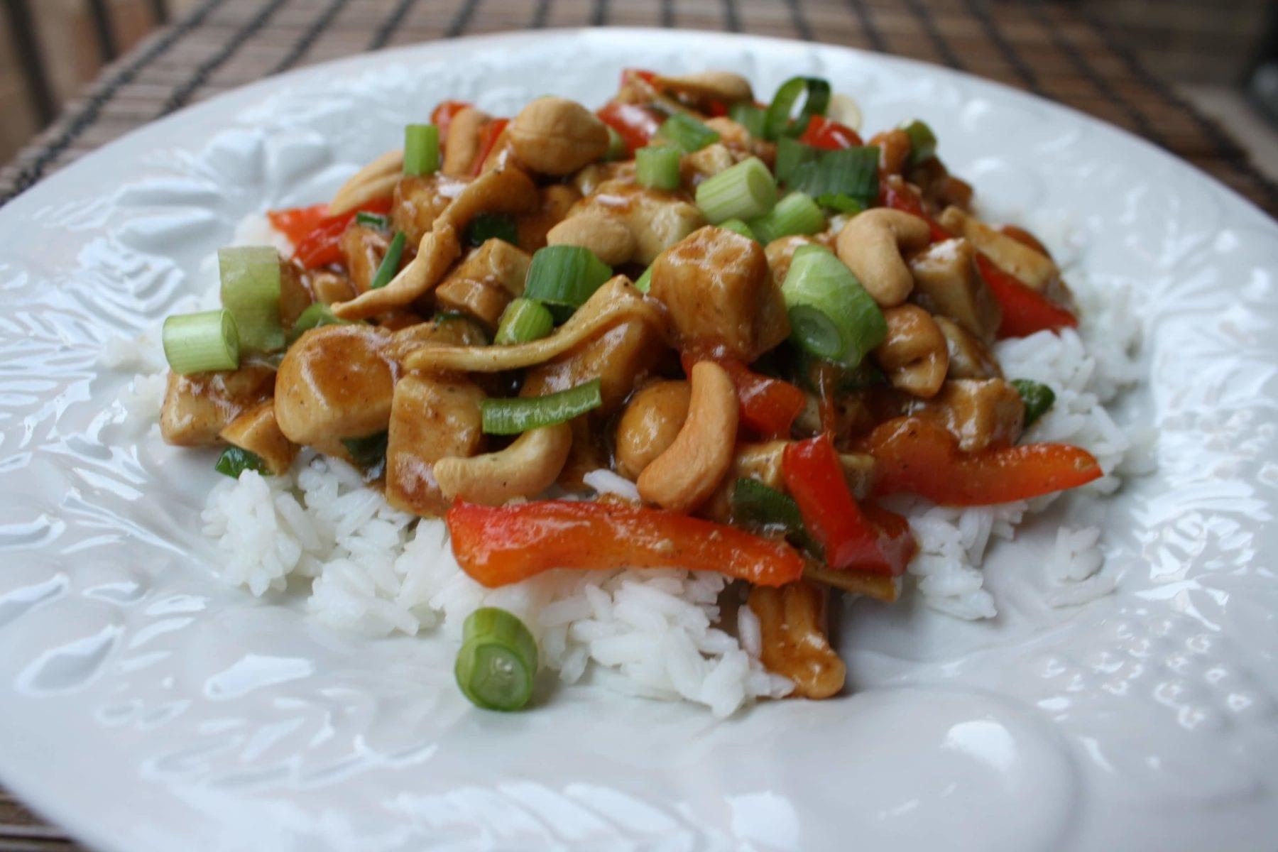 Cashew Chicken Stir Fry {Dairy-Free, Gluten-Free}