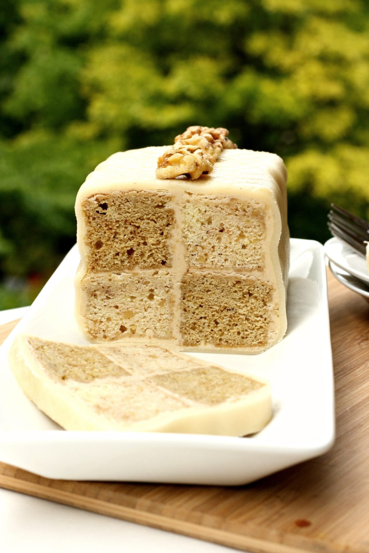 Coffee And Walnut Loaf Cake