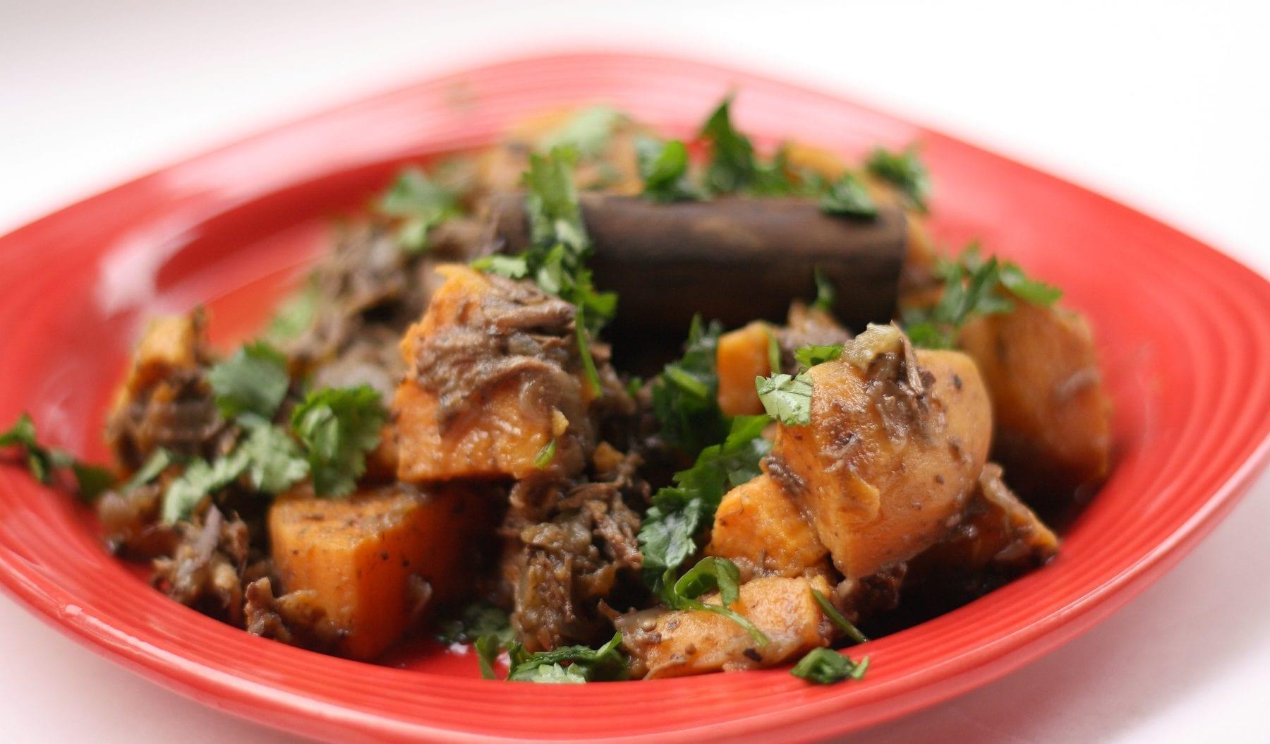 Daring Cooks November 2011 – Beef Braised in Tea with Sweet Potatoes