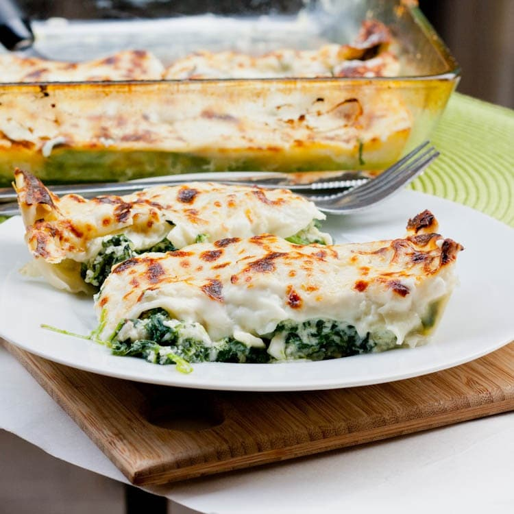 spinach cannelloni ready to eat