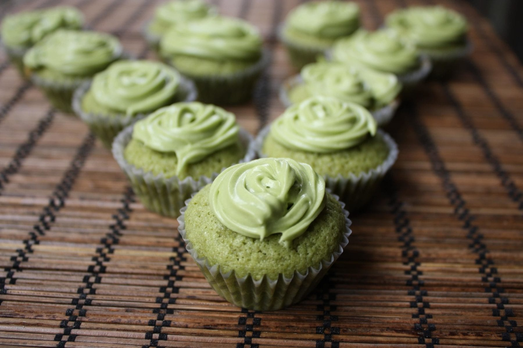 Mini Green Tea Cupcake Recipe