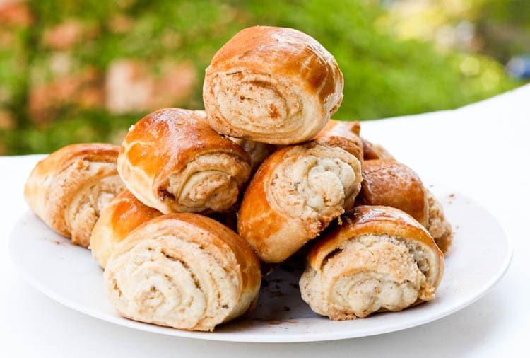 Armenian nazook dessert rolls