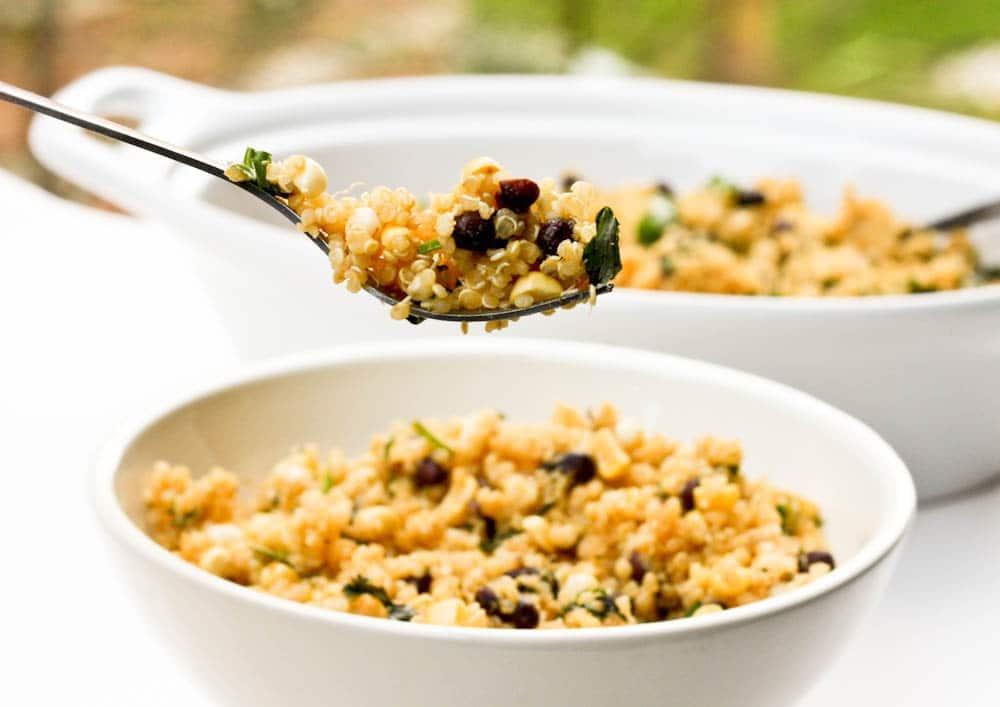 quinoa corn black bean with cilantro and lime