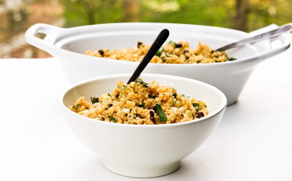 quinoa corn black bean salad