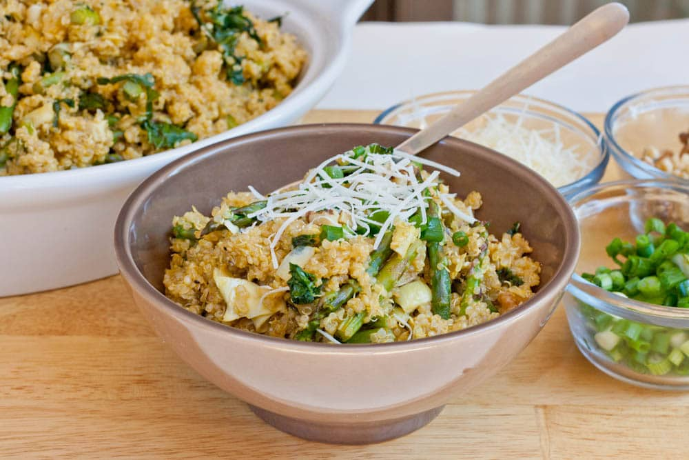 Quinoa with Artichokes, Asparagus and Kale {Gluten-Free, Vegan}
