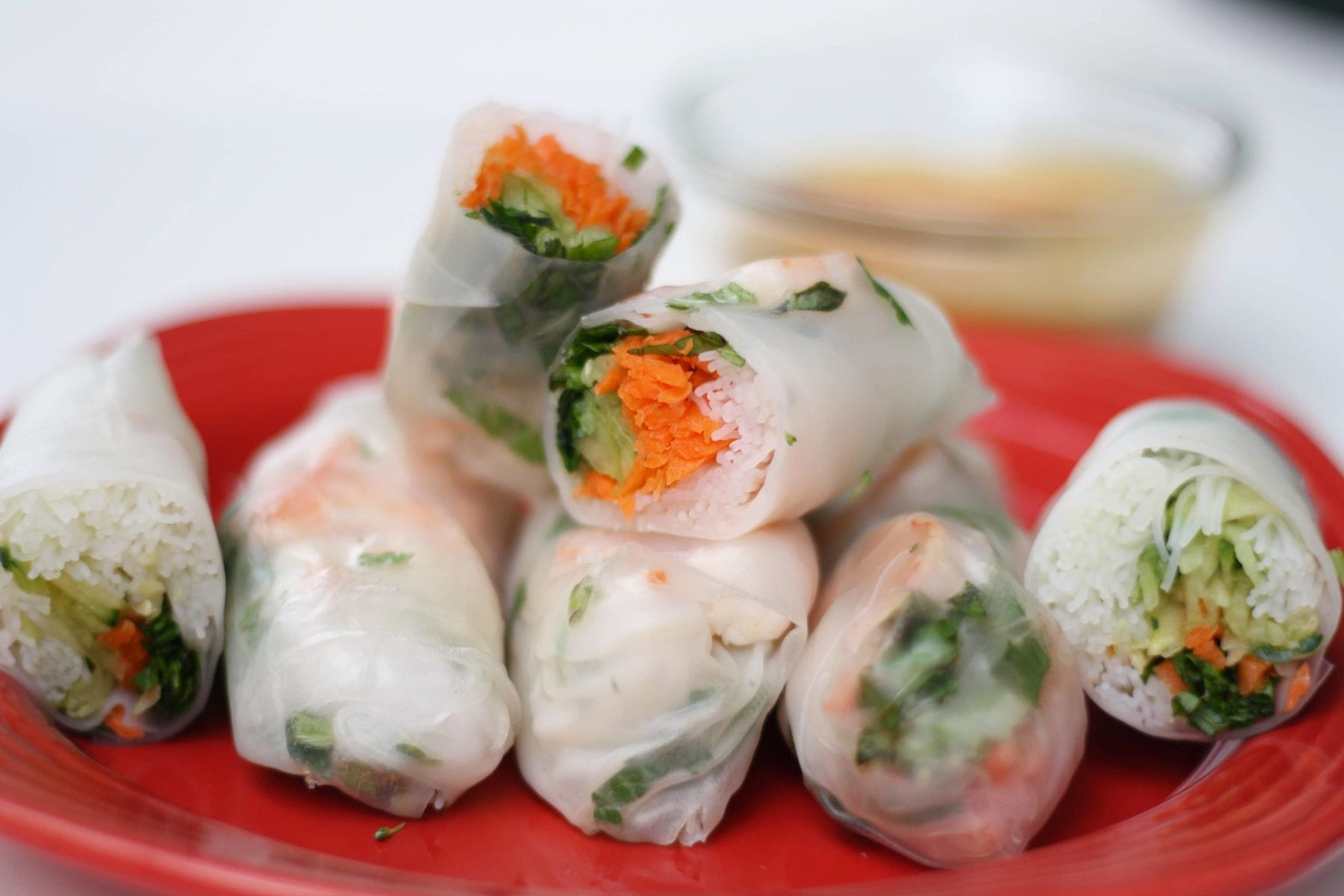 Asian Shrimp and Vegetable Summer Rolls Recipe
