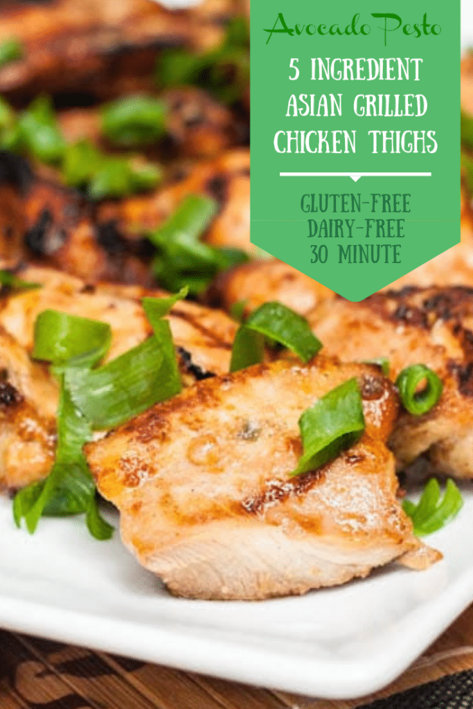 grilled chicken with scallions on a plate