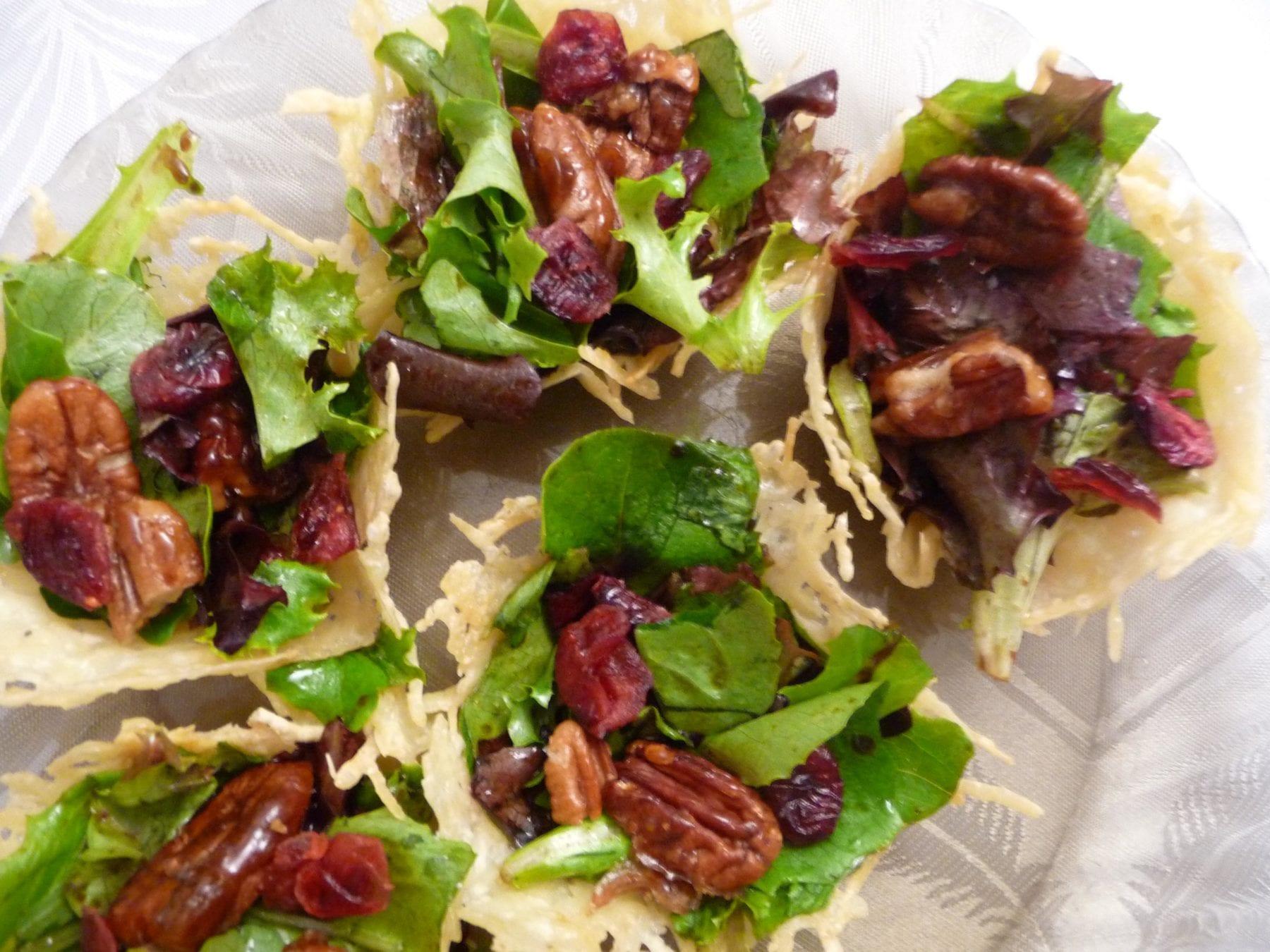 Parmesan Salad Bowls {Gluten-Free}