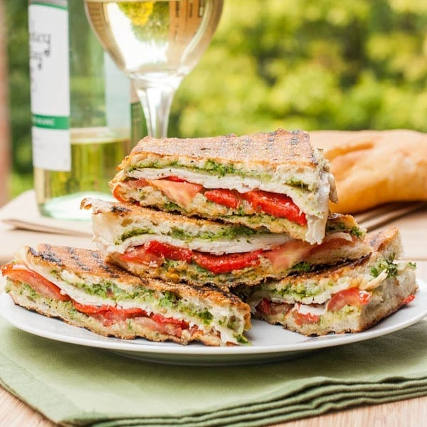 4 pieces of Turkey Pesto Panini