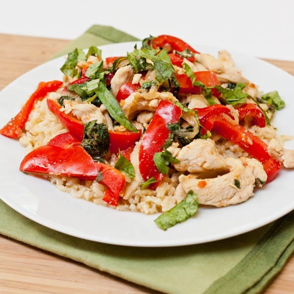 Basil Chicken Stir Fry