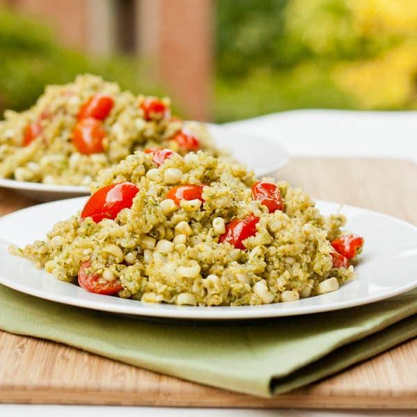 Quinoa with Pesto