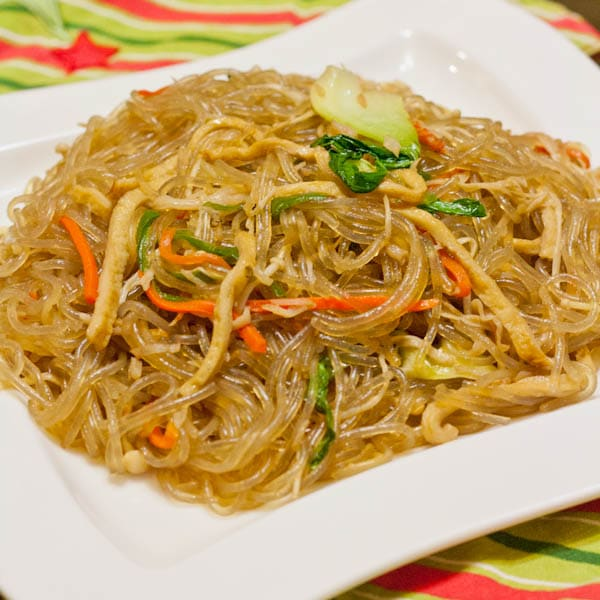 Japchae - Stir Fried Korean Glass Noodles