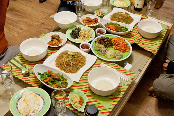 Korean dinner party