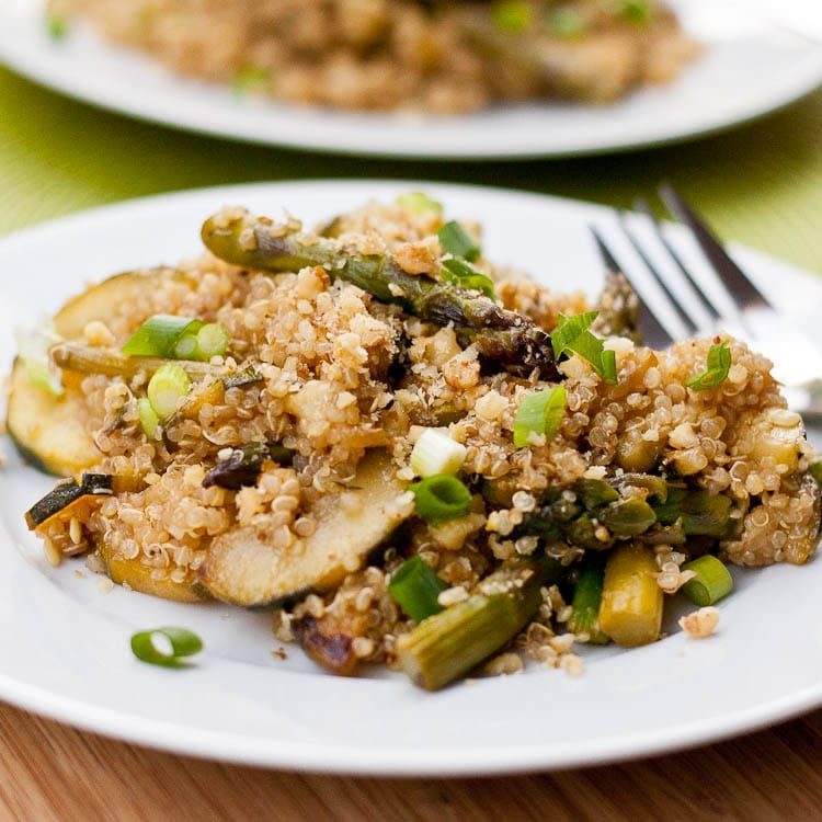 Quinoa with Zucchini and Asparagus